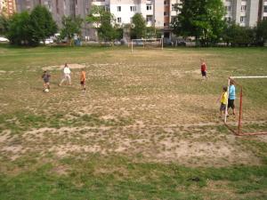 Футбол з дітьми й учасниками обміну
