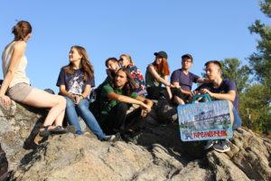 Скеля-реєстр підчас екскурсії